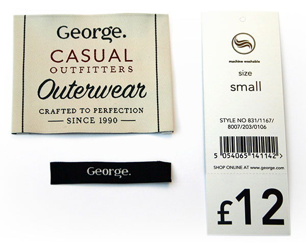 Asda George Labels
